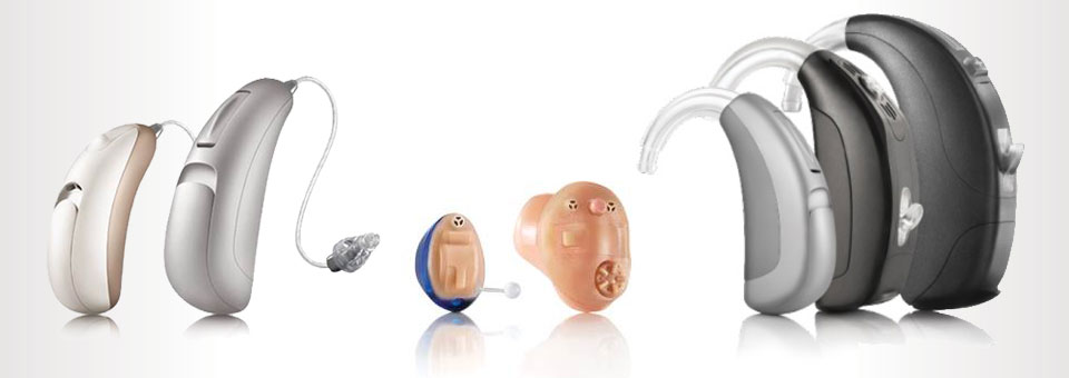 Variety of hearing aid devices